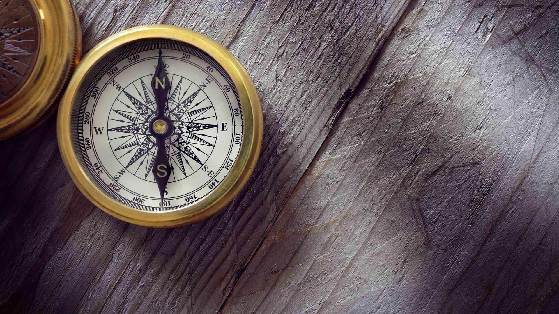 Kompassi pöydällä