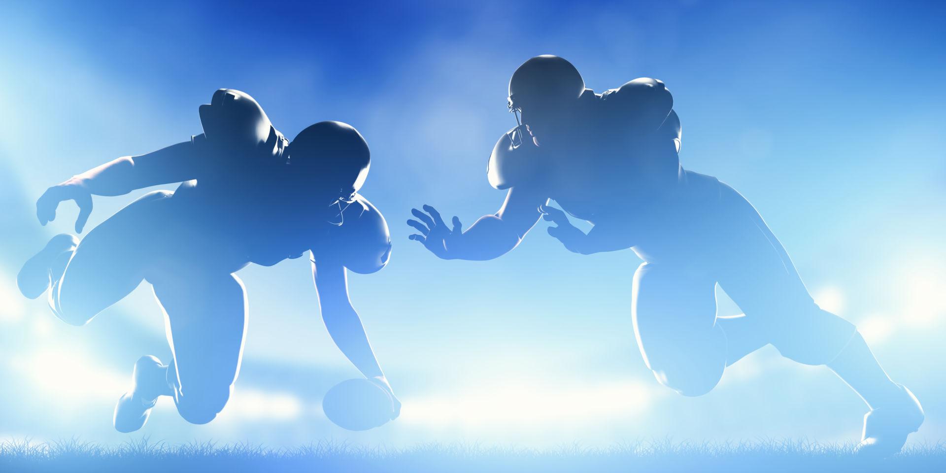 Amerikkalaisen jalkapallon pelaajat