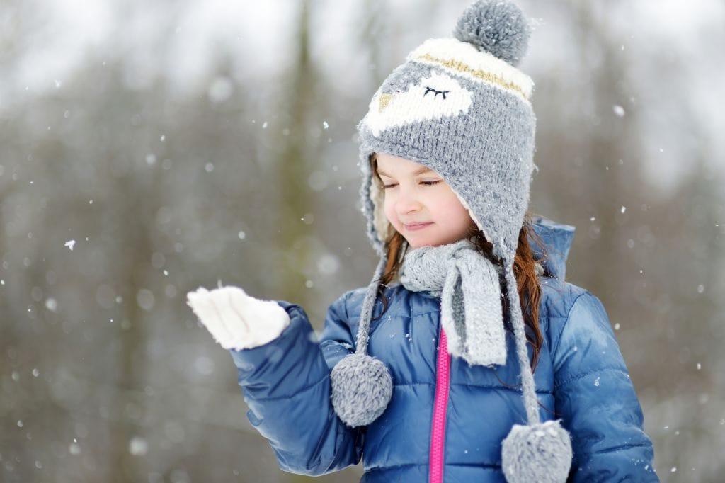 Pohjantähti lapsi talvi lumisade